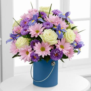 The Color Your Day Tranquility Bouquet