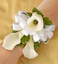 All White Calla Lilies Corsage