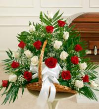 Sincerest Sympathies Fireside Basket-Red & White